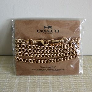"""COACH Gold 46"""" Crossbody Chain Replacement Strap"""